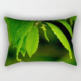 Glowing green Rectangular Pillow