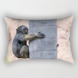 Howler Monkey Hang on tight Rectangular Pillow