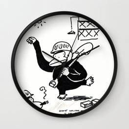 Interpretive Dance Ape at the Construction Site Wall Clock