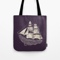 ilovedoodle Tote Bags featuring Wherever the wind blows by I Love Doodle