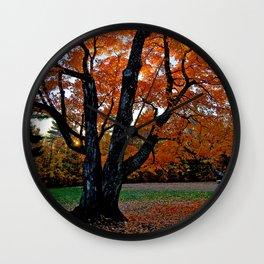 Fall Wall Clock