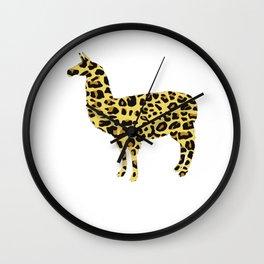 Leopard Llama Wall Clock