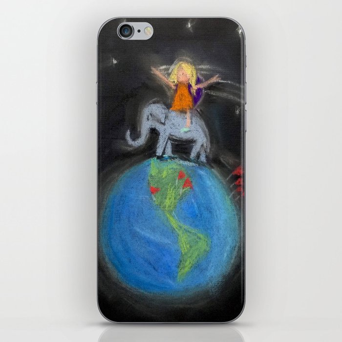Traveling around the world iPhone Skin