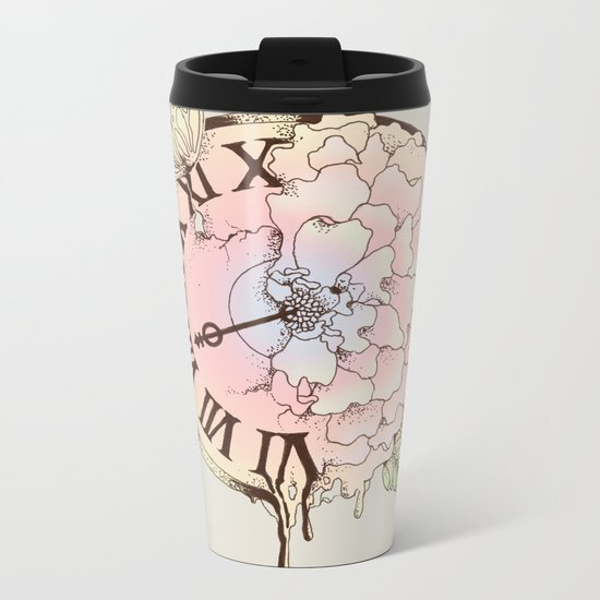 Il y a Beauté dans le Temps (There is Beauty in Time) Metal Travel Mug