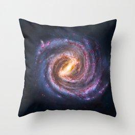Galaxy Spin Throw Pillow