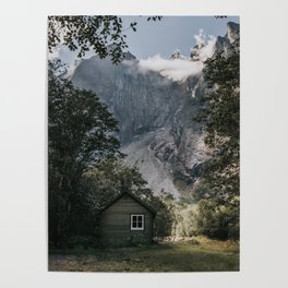 Mountain Cabin - Landscape and Nature Photography Poster
