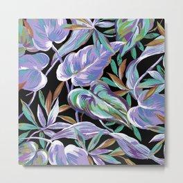 Spring tropical leaves Metal Print
