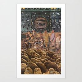 talk sheep Art Print