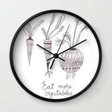 Eat more vegetables Wall Clock