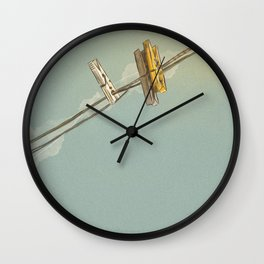Vintage Clothespin Wall Clock