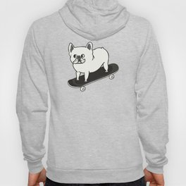 Skateboarding French Bulldog Hoody