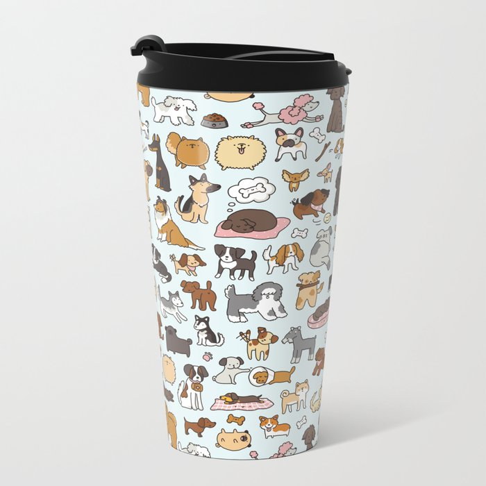Doggy Doodle Metal Travel Mug