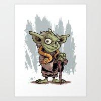 Toy Yoda Art Print