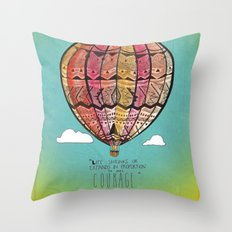 Life Expands quote Throw Pillow