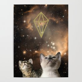 Galaxy Cats Poster