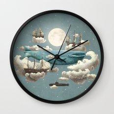 Ocean Meets Sky - colour option Wall Clock