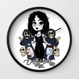 Death is a funny thing Wall Clock