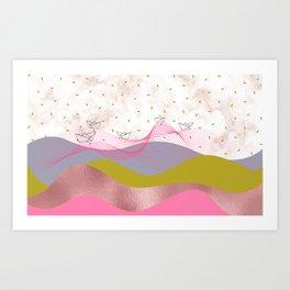 Mountainous Sailing Art Print