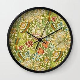 William Morris Golden Lily Vintage Pre-Raphaelite Floral Art Wall Clock