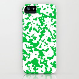 Spots - White and Dark Pastel Green iPhone Case