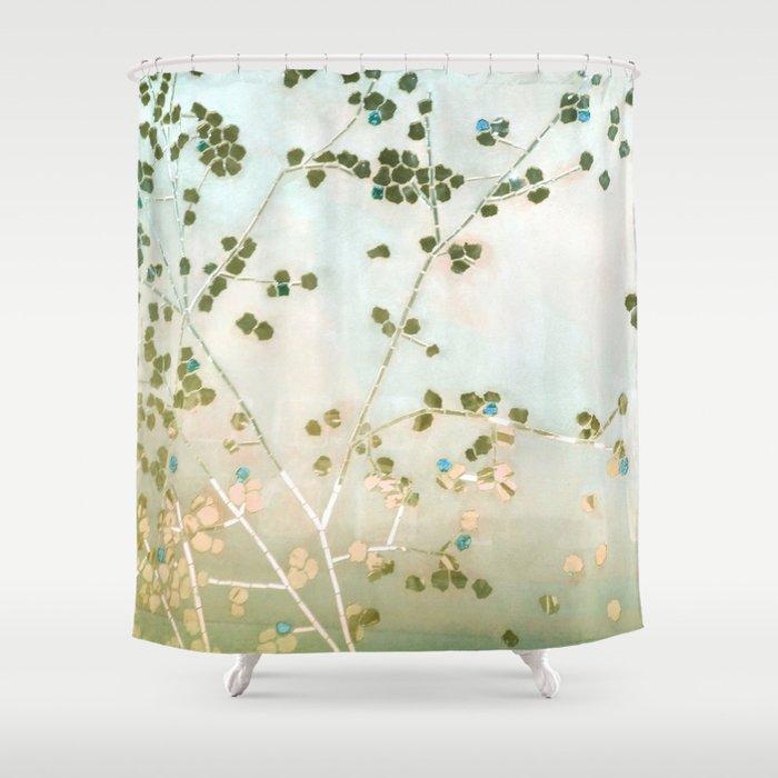 Mosaica Glitterati In Blue Gold Shower Curtain