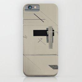 El Lissitzky - Kestnermappe Proun, Rob. Levnis and Chapman GmbH Hannover #6 (1923) iPhone Case