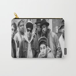 Beas-tie Boys Run DMC Amsterdam 1987 33 x 23 inches approx Vintage Rare Uk Posterand Wooden Poster Hanging Kit Included Carry-All Pouch