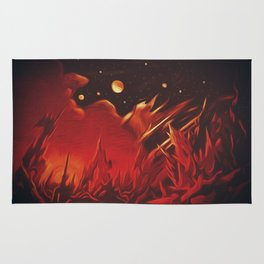A View from Planet Hell Rug