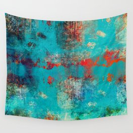 Aztec Turquoise Stone Abstract Texture Design Art Wall Tapestry