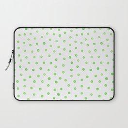 Pastel green polka dots Laptop Sleeve