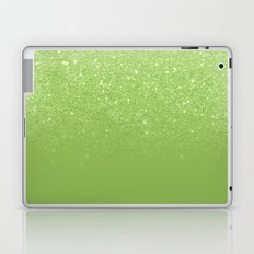 Modern green glitter ombre color block greenery color of the year pattern Laptop & iPad Skin