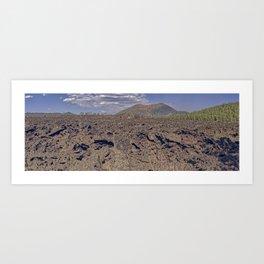 Panorama of the western Bonito Lava Field at Sunset Crater Volcano AZ. Art Print
