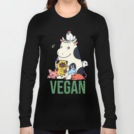 Pug and Friends Vegan Long Sleeve T-shirt