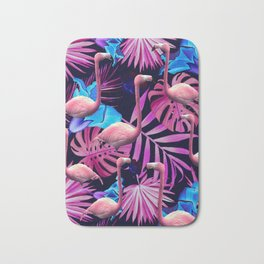 Flamingo tropfest Bath Mat