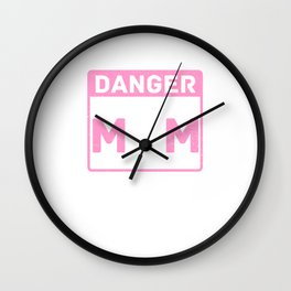 Cute & Funny Danger Softball Mom Will Shout Loudly Wall Clock