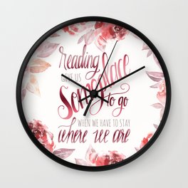 READING GIVES US Wall Clock