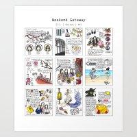 Travel Journal Art Print