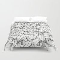 planes Duvet Covers featuring Paper planes by GrandeDuc