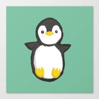 penguin Canvas Prints featuring penguin by Julie Zhang