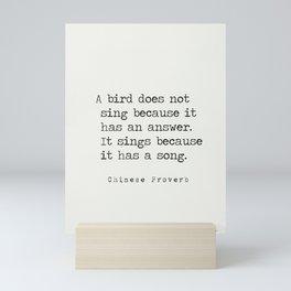 Chinese proverb 3 Mini Art Print