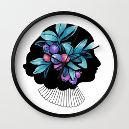 Blueberry Essence Wall Clock