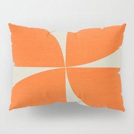 mod petals - orange Pillow Sham