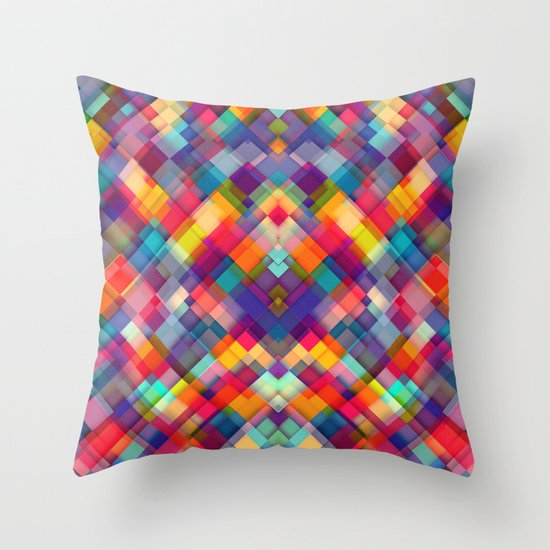 Squares Everywhere Throw Pillow