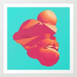 Day 0316 /// Bubblegum Cough Art Print
