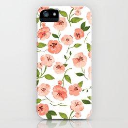 Peach flowers iPhone Case