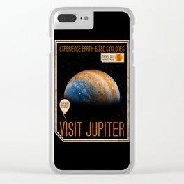 Visit Jupiter Clear iPhone Case