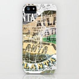 Atlanta map iPhone Case