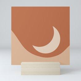 Moonrise Minimalism - Orange Mini Art Print