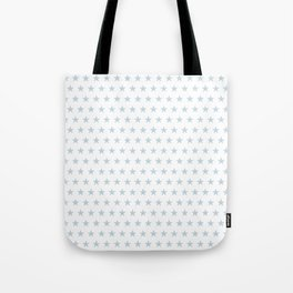 Dove gray stars on white pattern Tote Bag