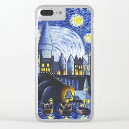 Starry Night At Hogwarts Clear iPhone Case